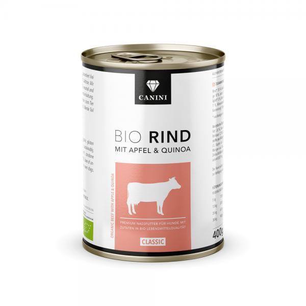 Bio Rind mit Apfel & Quinoa